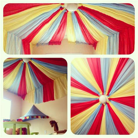 Circus Playroom With Dollar Store Table Cloths
