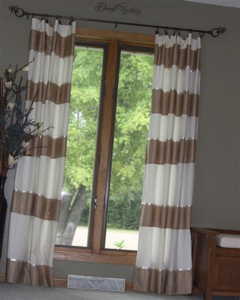 and white horizontal striped curtains horizontal