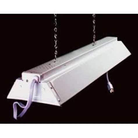 hanging fluorescent light fixtures hydrofarm 2 foot hanging shop light white track