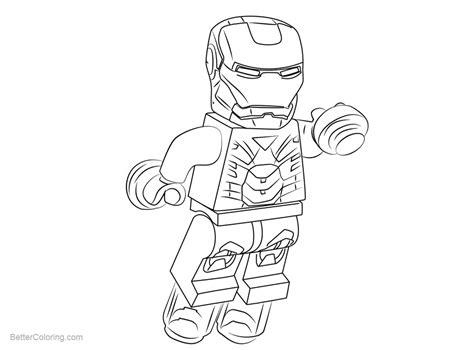 chibi lego iron man coloring pages  printable