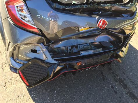 2018 Honda Civic Type R Crashes On The Way Home From The