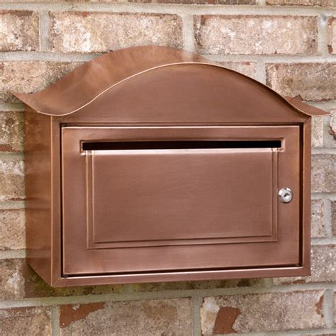 wall mount mailbox arched locking wall mount copper mailbox modern 4612