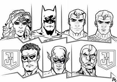 Justice League Coloring Comics Pages Adults Books