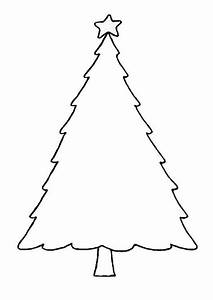 Blank Christmas Tree Outline Printable Template Clip Art ...