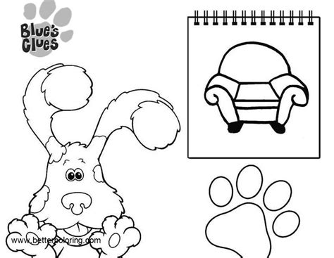 Blue's Clues Coloring Pages Note Book
