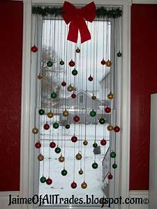 Hometalk diy christmas window decoration for Diy christmas curtains
