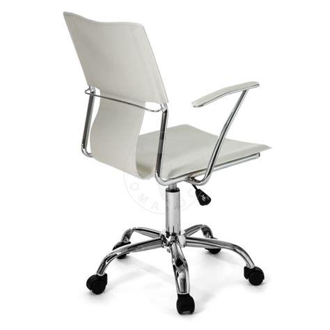 sedia tomasucci tomasucci sedia da ufficio lynx white pelle bianco base