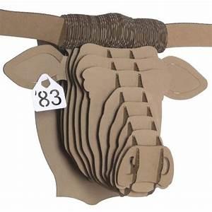 Trophée Animaux Carton : tex longhorn m dium troph e mural en carton de cardboard safari troph es d 39 animaux en ~ Melissatoandfro.com Idées de Décoration