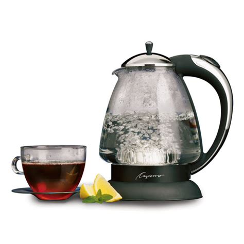 tea kettle kettles water electric glass whistling rated capresso plus h20 looking cup