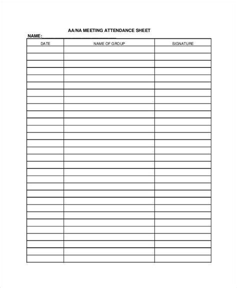 sheet samples templates