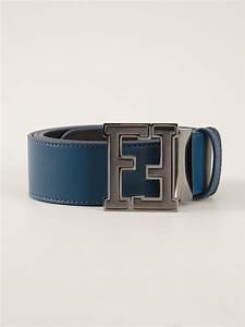 Fendi Branded Buckle Belt in Blue for Men | Lyst