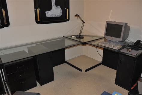 Kitchen And Bathroom Ideas - large l shaped glass desk all about house design beautiful l shaped glass desk