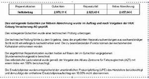 Abrechnung Nach Gutachten : fiktive abrechnung nach einem verkehrsunfall teil 2 ~ Themetempest.com Abrechnung