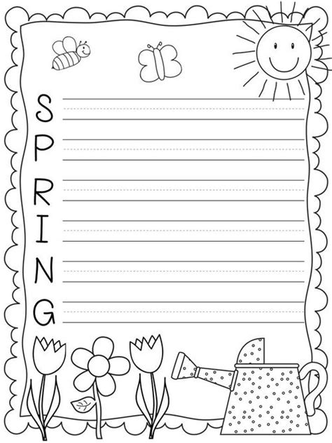 spring worksheets  coloring pages  kids