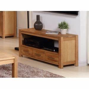 Meuble Tv Carrefour : marque generique meuble tv broceliande ii 1 niche 3 tiroirs ch ne huil naturel pas ~ Teatrodelosmanantiales.com Idées de Décoration
