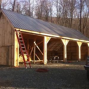 24x36 pole barn farm equipment storage shed With 24x36 pole barn kit