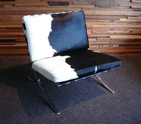 Cowhide Barcelona Chair by Barcelona Chair Cowhide Eclectic Living Room Chairs
