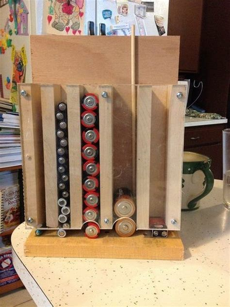 homemade drop  battery dispenser diy projects