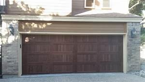18x7 chi 5916 dark oak yelp With 18x7 garage door