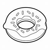 Donut Sprinkles Cartoon Clipart Coloring Doughnut Template Sprinkled Pencil Sparks Silhouette Heart Library Similar Think Drawn Whosampled sketch template