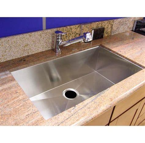 stainless steel undermount single bowl kitchen sink  radius design