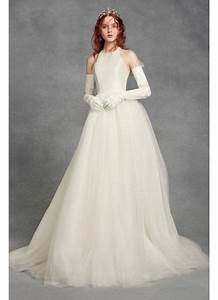 white by vera wang bow back petite wedding dress david39s With wedding dresses for petite brides vera wang