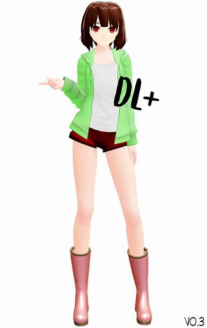 Chara Mmd Storyshift Dl Undertale Pants Added
