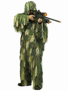 Mens Army Camouflage Military Soldier Ghillie Suit Sniper ...