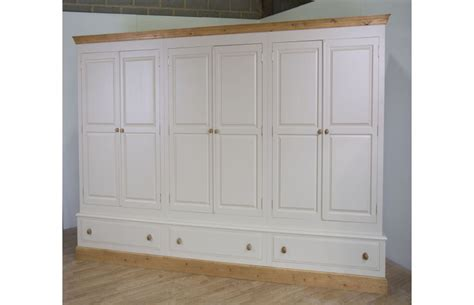 Large Wardrobe With Drawers by Farrow Painted Large 6 Door Wardrobe With Drawers
