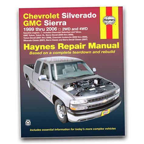 free auto repair manuals 1993 gmc vandura 1500 parking system gmc sierra 1500 hd haynes repair manual sle slt shop service garage book qe ebay