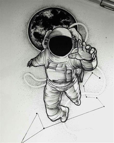 astronaut in space drawing tatuagem astronauta astronaut constela 231 227 o de