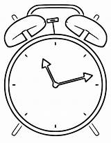 Clock Alarm Printable Coloring Cartoonized Wecoloringpage Pages sketch template