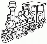 Steam Engine Clip Cliparts Coloring Train Trains sketch template
