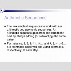 Ppt  131 Arithmetic And Geometric Sequences Powerpoint Presentation Id515318