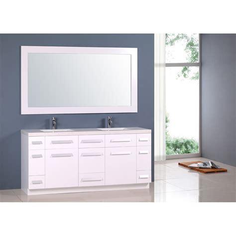 design element moscony  double sink vanity set white