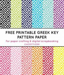 Free Printable Greek Key Digital Paper