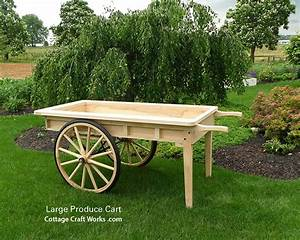 Old Fashion Reproduction Large Wooden Produce Cart ...