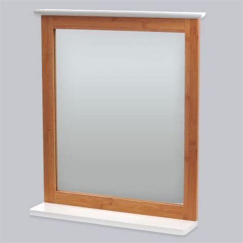 miroir de salle de bain bakou bois bambou miroir eminza