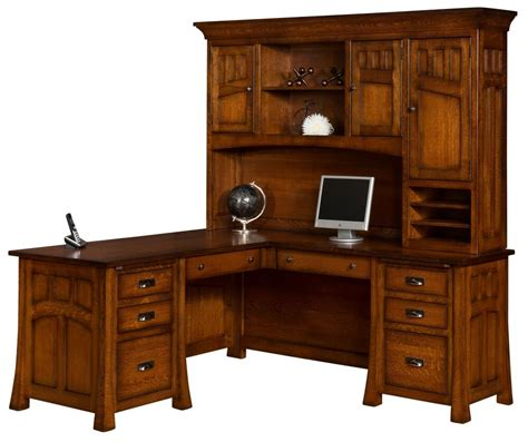 Office Hutch by Amish Bridgefort Mission Corner Computer Desk Hutch Office