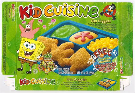 bob cuisine 2002 kid cuisine sponge bob frozen tv dinner box gregg