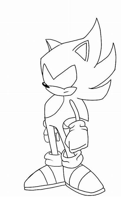 Sonic Colorear Dark Hedgehog Dibujos Metal Sketch