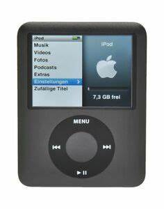 Ipod Nano Kaufen : apple ipod nano 3 generation schwarz 8gb g nstig kaufen ~ Jslefanu.com Haus und Dekorationen