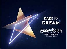 Eurovision 2019 logo Three triangles form a golden star