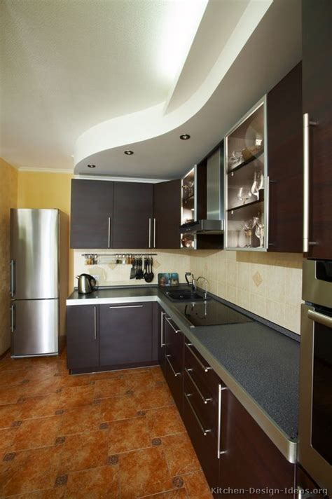 pictures  kitchens modern dark wood kitchens page