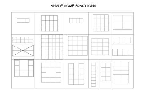 Selection Of Fraction Worksheets By Gepocock
