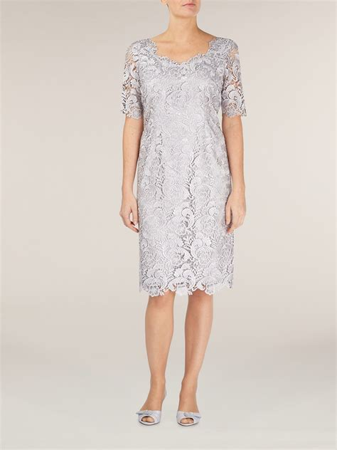 Lyst  Jacques Vert Luxury Lace Dress In Gray