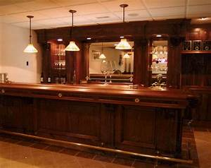 Custom Made Walnut Bar by Dugan's Woodworking CustomMade com