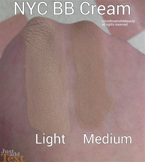 nyc bb cream light n y c new york color smooth skin 5 in 1 bb cream beauty