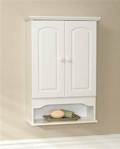 Zenna home white wall cabinet at menardsr for Menards bathroom wall cabinets