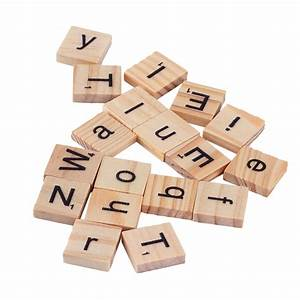100 wooden alphabet for scrabble tiles black letters With wooden letters and numbers for sale